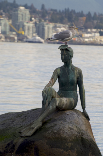 """Girl in a Wetsuit"" - Vancouver's answer to Copenhagen's ""The LIttle Mermaid"""