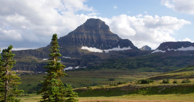 View from Logan Pass, Glacier National Park, Montana