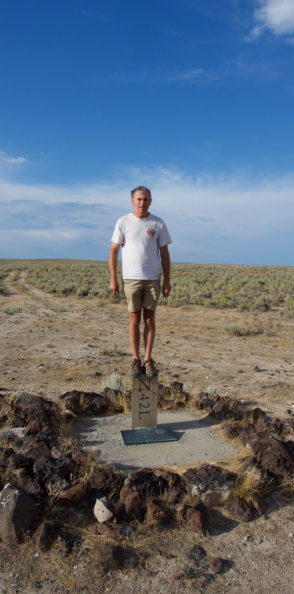 Standing on the (very remote) point where Oregon, Idaho, and Nevada meet